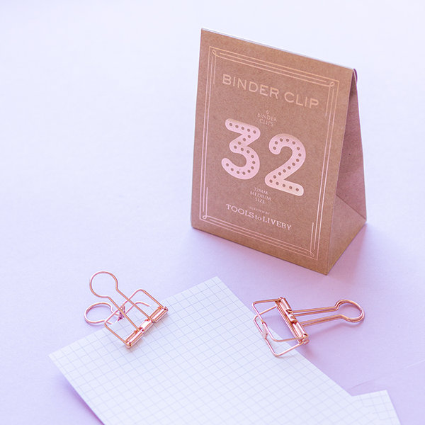 Binder Clips Medium - 32mm roségold - TOOLS to LIVEBY