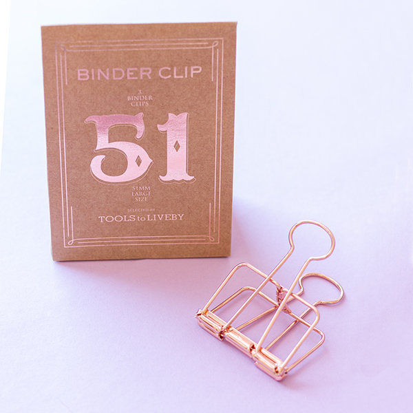 Binder Clips Large - 51mm roségold - TOOLS to LIVEBY